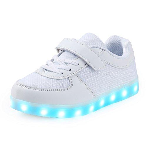 Saguaro® led scarpe usb carica lampeggiante luminosi sneakers scarpe sportive bambino unisex