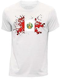 STUFF4 Hombres/Medio (M)/Blanco/Cuello redondo de la camiseta/