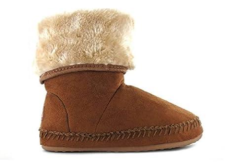 Girls Kids Boot Slippers Warm Autumn Winter Christmas Gift Sizes Infant 4 - Junior 2 (UK 10 (Infant),