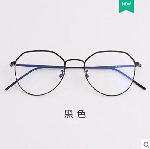 KOMNY Modische Brillenfassungen, weibliche Anti blaues Licht, Strahlung Brille Frames, männlich Computer Schutzbrille, Spiegel, Gläser, weibliche Anti blaues Licht Brille, leuchtende Brillen, schwarz