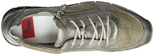 Rieker M2840, Scarpe da Ginnastica Donna Grigio (grey/stone/fango-silver/altsilber/altgold / 41)