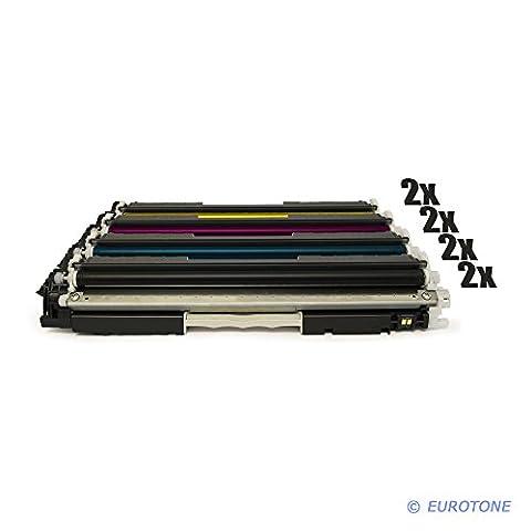 8x Eurotone Remanufactured Toner Cartouche pour HP Color LaserJet Pro MFP M 176 177 fw n remplace CF350A-53A 130A