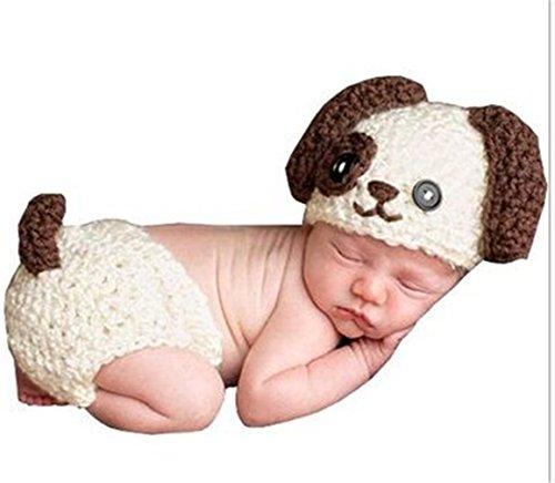 Kinder Baby Strick Mütze Fotoshooting Hund Neugeborene Muster Design Hut Kostüm Hüte (Junge Hund Kostüme)