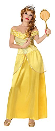 Disney Prinzessin Belle Kostüm Für Erwachsene - ATOSA 28905 Karnevalskostüm, Gelb,