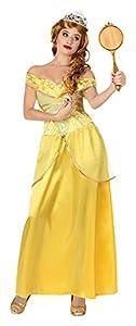 Atosa-28905 Disfraz Princesa de Cuento, Color amarillo, XS-S (28905