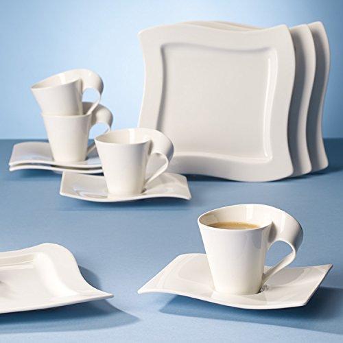 villeroy boch newwave kaffee set elegantes kaffee service aus porzellan in geschwungener. Black Bedroom Furniture Sets. Home Design Ideas