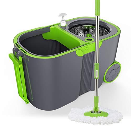El juego de il set per la pulizia della casa del secchio di rotazione di 360 gradi viene fornito con 2 pezzi tessuto adatto per soggiorno/cucina/camera da letto/bagno