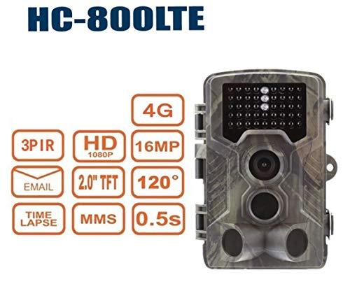 XINHUANG 4G Wildkamera 1080P Full HD 42 Black LED 0,3 Sek Trigger 120° Fotofalle Überwachungskamera 16MP Jagdkamera 1080p-hd-42