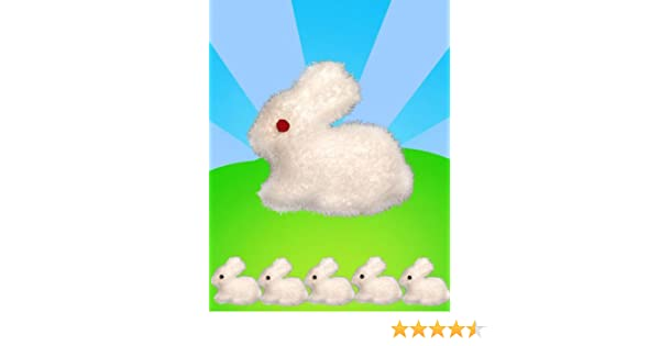 5 White Easter Bunnies Foam Soft Bonnet Decoration Craft Fluffy Kids Rabbit