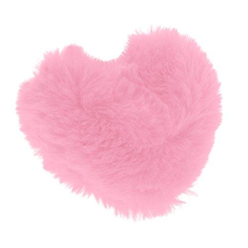 NON MagiDeal Almohada de Felpa Cojín de Peluche en Forma de Corazón para 1/3 Muñeca Juguetes - Rosa Roja
