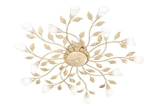 Trio Leuchten LED-Deckenleuchte weiß antik, Glas weiß 622811527