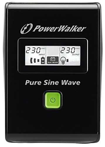 BlueWalker PowerWalker VI 800 SW Line-Interactive 800VA 2AC outlet(s) Black uninterruptible power supply (UPS) - uninterruptible power supplies (UPSs) (800 VA, 480 W, 162 V, 290 V, 220 V, 240 V)