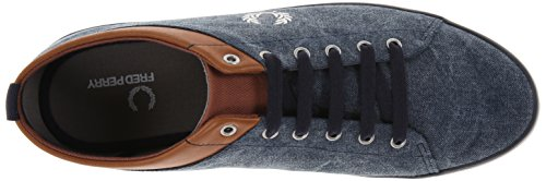 Fred Perry Hallam Printed B5230266, Baskets Mode Homme Bleu
