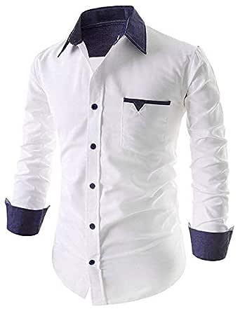 SRETAN Men's Cotton Casual Shirts for Men Full Sleeves