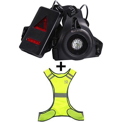 Running Light mit Warnweste, Hohe Sichtbarkeit, Outdoor Sports Fotografie Light, USB-aufladbare LED Night Hunde Brust Licht für Angeln Camping, Wandern, Walking, Jagd GoPro Hero 3Mount