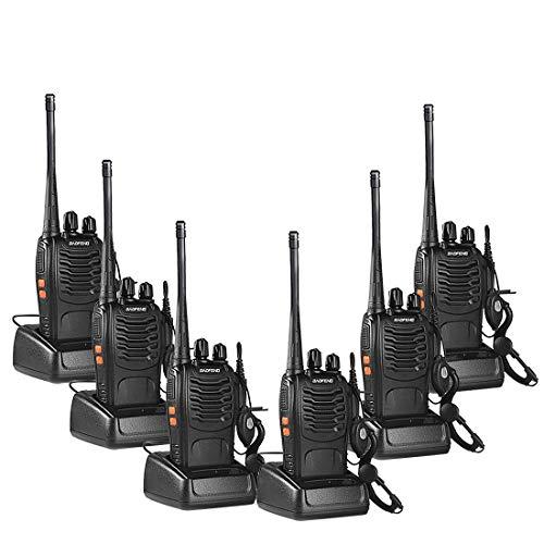 Lunga Distanza Walkie Talkie Professionali Ricetrasmettitori Portatili Radio con Auricolari(6 pezzi)