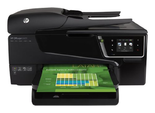 HP Officejet 6600 e-All-in-One Tintenstrahl Multifunktionsdrucker (A4, Drucker, Scanner, Kopierer, Fax, Dokumentenecht, Wlan, USB, 4800x1200)