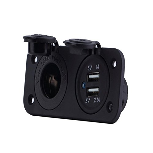 ELECTROPRIME Car Boat Dual USB Phone Charger Power Port Socket Assembly Panel Universal