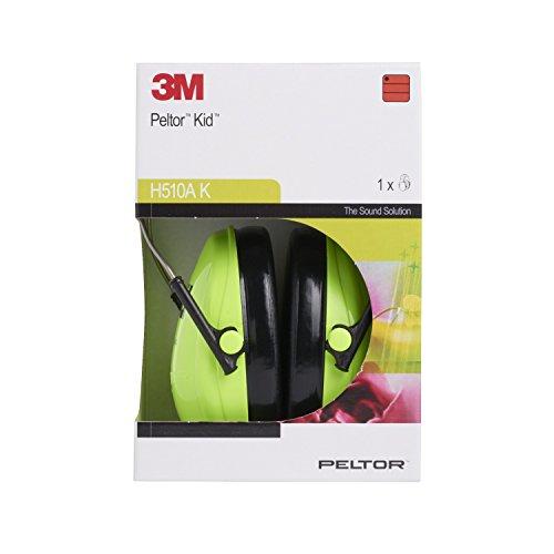 3M Peltor Kid Kapselgehörschützer neongrün / Kinder Gehörschutz mit verstellbarem Kopfbügel für Lärm bis 98dB / SNR 27 Hörschutz mit hohem Tragekomfort & geringem Gewicht - 6