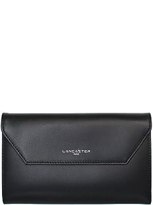 Lancaster portefeuille cuir de vachette constance 19 cm noir femme