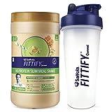Saffola FITTIFY Gourmet Hi-Protein Slim Meal Shake - Pistachio Almond, 420 gm, 12