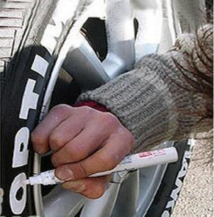 Reifenmarker für Auto / Fahrrad / Sport / Tuning, goldfarben