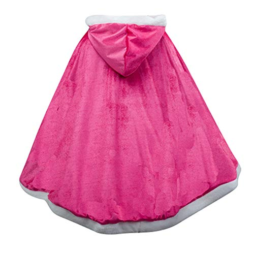 ädchen Prinzessin Cosplay Kostüm Fancy Schmetterling Kleid (140, PJ-Rose red) ()