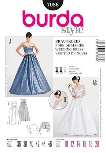 Burda Schnittmuster Brautkleid/Korsagenkleid