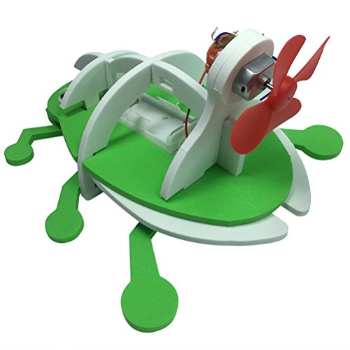 TOYMYTOY DIY Montage Amphibien Käfer Fahrzeug Roboter Käfer Modell Spielzeug Experiment Modell Pädagogisches Spielzeug (Grün)