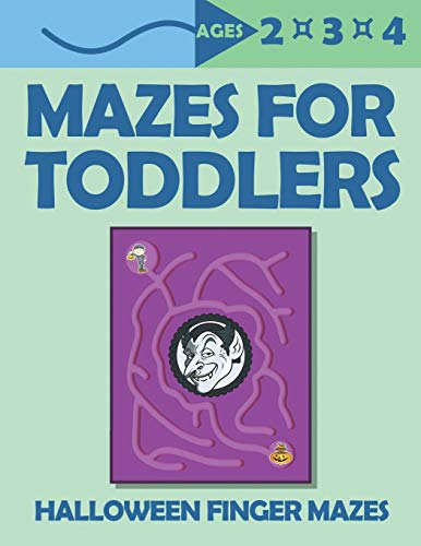 Mazes For Toddlers: Halloween Finger Mazes | Ages 2,3,4