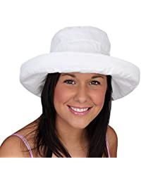 784f0b59199 i-Smalls Women s Packable Shapeable Foldable Cotton Sun Hat with Inside  Adjuster
