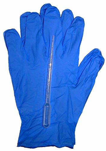 Preisvergleich Produktbild 500 St. Pipetten graduiert LDPE unsteril 3,2ml, 10 Paar Nitril Handschuhe XL
