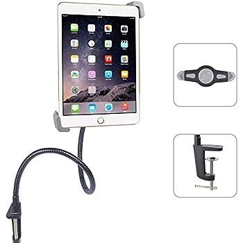 ieGeek® Support de Tablette à Rotation 360° Flexible Col de Cygne Ajustable pour iPad 2/3/4 - iPad Air/2 - iPad Mini /2/3 de Bureau Support de Montage Tablette Noir