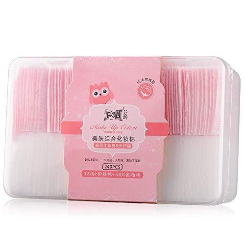 Almohadillas algodón multicapas MCKhome maquillaje