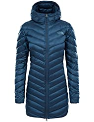 The North Face Trevail Parka, Chaqueta Parka para Mujer, Azul (Ink Blue), S