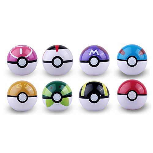 d08c5adf341ab Preiswert Pokemon Pokeball 8 versciedene GS Poke ball   Pokemon Mini ...