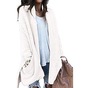 Luckycat Damen warme künstliche Tasche Wollmantel Jacke Revers Winter Oberbekleidung Jacken Mäntel Sweatjacke Winterjacke Fleecejacke Steppjacke
