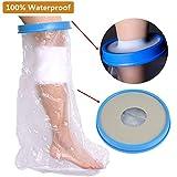 BUYGOO BUYGOO Gipsschutz Wasserdicht Bein - Super Wasserdichter Gipsschutz und Verbandschutz 72 x 44,2cm über dem Knie für Bad & Dusche (Erwachsener Fuß)