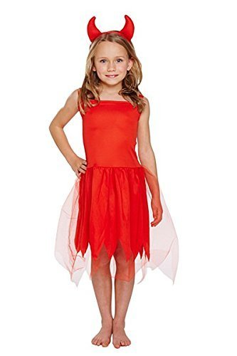 Red Devil Horns Halloween Horror Fancy Dress Costume Outfit 3 Years V00913 by Henbrandt (Scary Halloween Kostüme Für Kleinkinder)