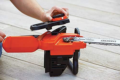 Black+Decker Li Ion Akku-Kettensäge 18V GKC1825L20 mit Akku und Ladegerät / Ideal für Holz- & Gartenarbeiten / 25 cm Schwertlänge - 10