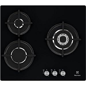 Electrolux EGT6633NOK Integrado Encimera de gas Negro hobs – Placa (Integrado, Encimera de gas, Cerámico, Negro, Vidrio, 1000 W)