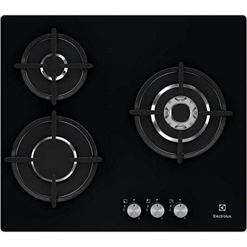 Electrolux egt6633nok intégré gaz noir plaque – Plaque (intégré, gaz, céramique, noir, verre, pivotant)