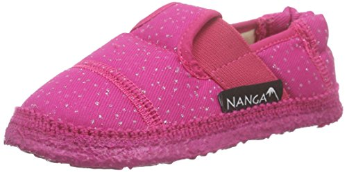 Nanga Mädchen Glamour Flache Hausschuhe Pink (27)