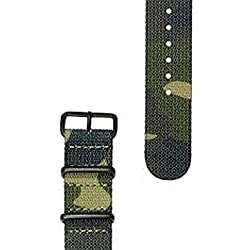 HyperGrand Mens 20 mm NS01JUNGBB Jungle Nato Strap w/Black Stainless Steel Hardware
