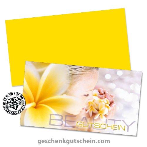 50 Stk. Hochwertige Gutscheinkarten Geschenkgutscheine + 50 Stk. Kuverts für Kosmetik, Wellness, Beauty, Spa, KS1217, LIEFERZEIT 2 bis 4 Werktage!