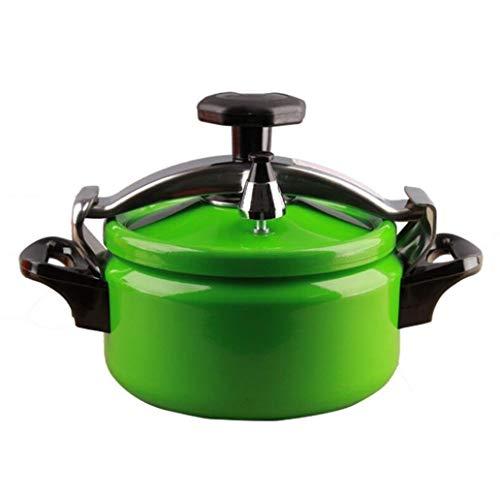 Schnellkochtopf Haushalt Mini-Schnellkochtopf Schnellkochtopf Induktionsherd Gas Aluminium-Schnellkochtopf kann in der Küche Hotel Restaurant verwendet Werden (Color : Green, Size : 2L)