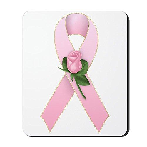 CafePress-Brustkrebs Schleife 2-Rutschfester Gummi-Mauspad, Gaming Maus Pad -