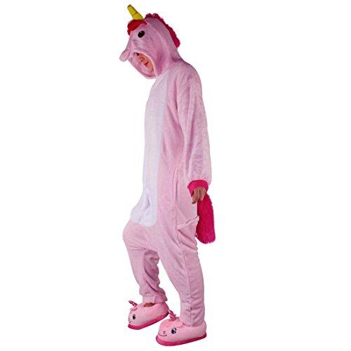 Pigiama Unicorno Adulto Kigurumi Animali Unisex Tuta Jumpsuit Flanella Costumi di Halloween Carnevale Festa Cosplay Attrezzatura Blu / Rosa / Viola - BienBien Rosa