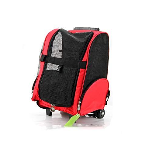 BHDYHM Haustier-Reisetaschen for Katzen und Hunde, tragbare Sicherheitstaschen for Katzen und Hunde, Trolley-Transporttasche for Haustiere Multifunktions-Big Space (Size : S) -