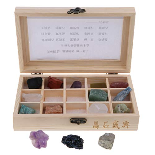 KESOTO 15 Piezas Roca Mineral Colección Geológica Juguete de Piedra